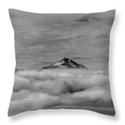 105355-mt. Jefferson Above The Clouds,or,bw Throw Pillow