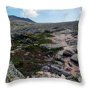 Mt Katahdin Appalachian Trail Throw Pillow