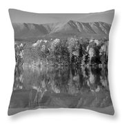 Mt Katahdin Baxter State Park Fall Throw Pillow