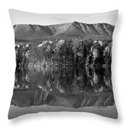 Mt Katahdin Black And White Throw Pillow