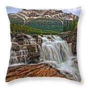 Mt. Kerkeslin  Athabasca Falls Throw Pillow