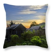 Mt Leconte Before Dawn Throw Pillow by Debra and Dave Vanderlaan