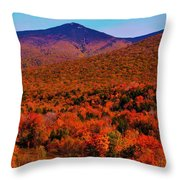 Mt Liberty And Mt Flume Throw Pillow