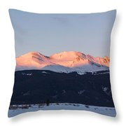 Mt. Massive Throw Pillow by Aaron Spong