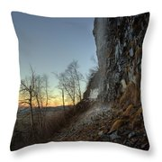 Mt Mckay Spring Waterfall Throw Pillow