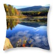Mt. Monadnock Reflection Throw Pillow