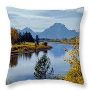 1m9208-mt. Moran And The Snake River, Wy Throw Pillow