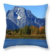 Mt Moran View Throw Pillow