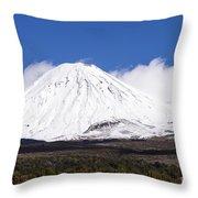 Mt. Ngauruhoe Throw Pillow