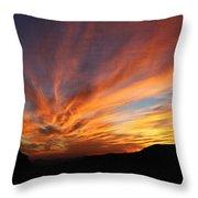 Mt Ord Sunset Arizona Throw Pillow