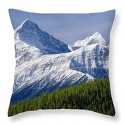 1m3627-mt. Outram And Mt. Forbes Throw Pillow