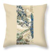Mt Penglai Mountain Of Immortals Throw Pillow
