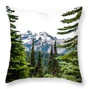 Mt. Rainier Framed Throw Pillow