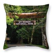 Mt Rainier Gateway Throw Pillow