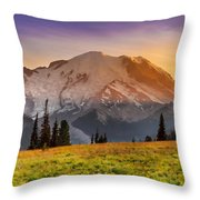 Mt. Rainier Sunset 2 Throw Pillow