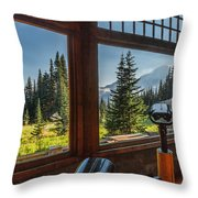 Mt. Rainier Visitor's Center Throw Pillow