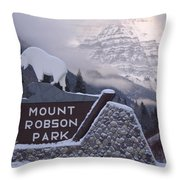 Mt Robson  Throw Pillow
