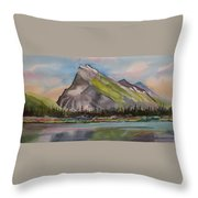 Mt. Rundle Throw Pillow