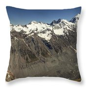Mt Sefton Hooker Glacier And Mt Cook Throw Pillow