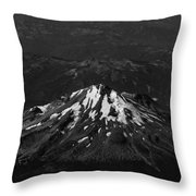 Mt Shasta Black And White Throw Pillow