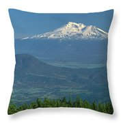 1a5637-mt. Shasta From Oregon Throw Pillow