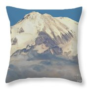 Mt. Shasta Summit Throw Pillow