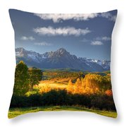 Mt Sneffels And The Dallas Divide Throw Pillow by Ken Smith