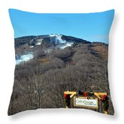 Mt Snow Vermont Throw Pillow