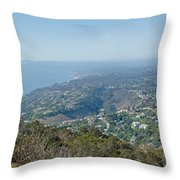 Mt. Soledad - View To The North Throw Pillow