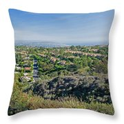 Mt. Soledad - View To The South Throw Pillow