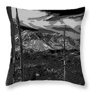 Mt St Helens Throw Pillow