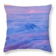 Above The Clouds At Sunset Throw Pillow