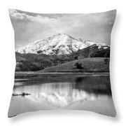 Mt. Tamalpais In Snow Throw Pillow