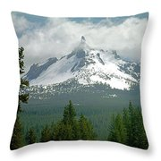 1m5505-mt. Thielsen In Clouds Throw Pillow