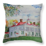 Mt. Vernon In The Fall Throw Pillow