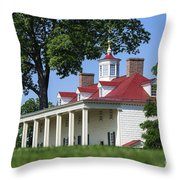 Mt Vernon Mansion Throw Pillow