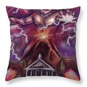 Mt. Vesuvius - Jupiter's Fury Throw Pillow