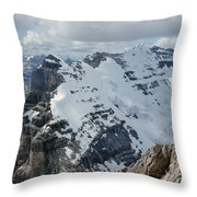 T-703510-mt. Victoria Seen From Mt. Lefroy Throw Pillow