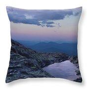 Mt. Washington  Blue Hour Throw Pillow