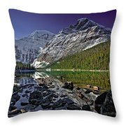 Mt.edith Cavell Throw Pillow