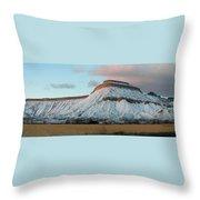Mt.garfield Winter Throw Pillow