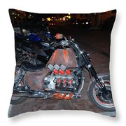 Mtr.cycle Throw Pillow