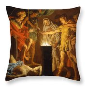 Mucius Scaevola In The Presence Of Lars Porsenna Throw Pillow