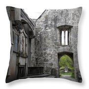 Muckrooss Abbey Ruin Throw Pillow