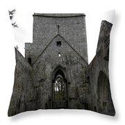 Muckross Abbey Steeple Throw Pillow
