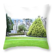 Muckross Castle Throw Pillow