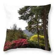 Muckross Garden In Spring Throw Pillow