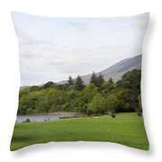 Muckross Lake And Garden Throw Pillow