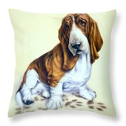 Mucky Pup Throw Pillow by Andrew Farley