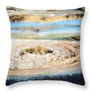 Mud Geyser Yellowstone Np 1928 Throw Pillow